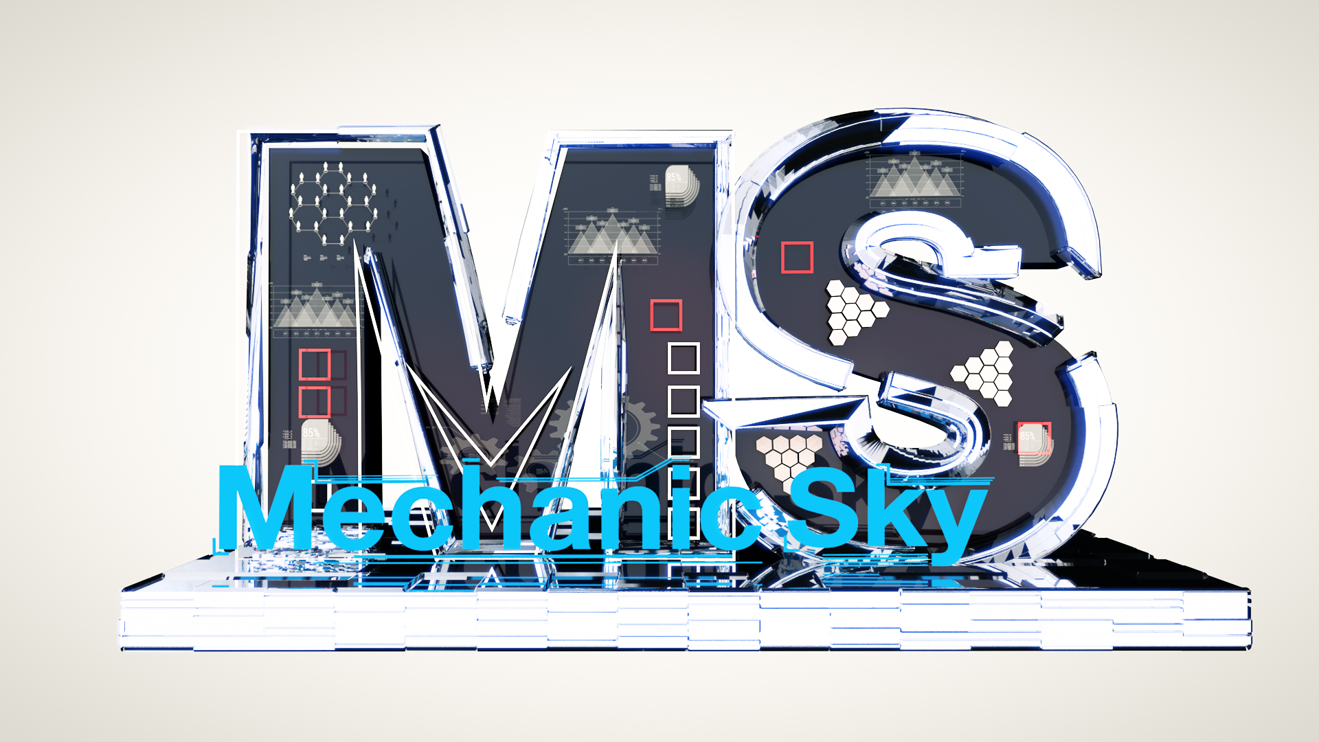 Анимационная 3D заставка для музыкальной команды Mechanic Sky